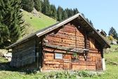 Farmer's house in the Swiss Alps — Stock Photo
