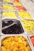 Buffet of fruits — Stock Photo
