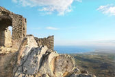 Old ruins (Sant Pere de Rodes, spain, costa brava) — Stock Photo
