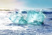 Icebergs form vatnajokull glacier — Stock Photo