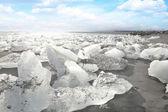 Icebergs at the beach — Stock Photo