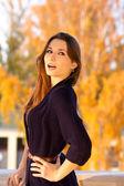 Překvapený krásná dívka — Stock fotografie