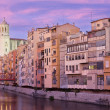 Stock Photo: Sunset in Girona