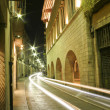 Girona night street — Stock Photo