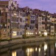 Sunset in Girona's river — Stockfoto #7227776