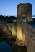 Besalu and his bridge — Stock Photo