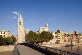 Girona catedral y la iglesia de felix — Foto de Stock