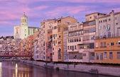 Sunset in Girona — Zdjęcie stockowe