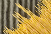 Spaghetti in diagonal — Stock Photo