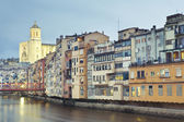 Rainy day in Girona — Stock Photo