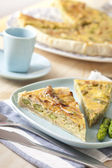 Asparagus quiche — Stock Photo