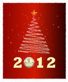 Kerstboom — Stockvector