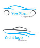 Logo, Car, yacht, company, vector, illustration — Stock Vector