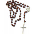 Rosary on white background — Stock Photo