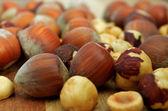 Close up of hazelnuts — Stock Photo