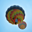 2 hot air ablloons — Foto Stock
