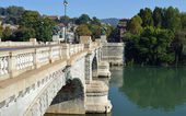 Turin, Italy - Bridge Umberto I — Stock Photo
