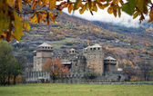 Fenis castle near Aosta (Italy) — Stock Photo