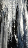 Icicles lit by the sun — Foto de Stock