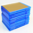 Blu Ray boxes stack — Stock Photo #7768586