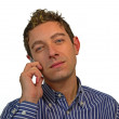 Good looking guy talking on cell phone — Stock Photo #7828134