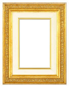 Wooden Gilt Picture Frame With Passe-Partout — Stock Photo