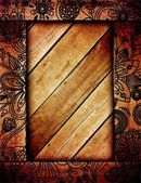 Wood pattern frame — ストック写真
