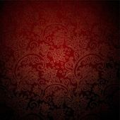 Dark red patterned wallpaper — Stock Photo