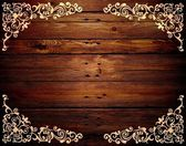 Wood pattern frame — Stock Photo