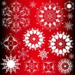 Stock Vector: Abstract snowflakes Design