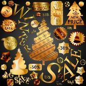 Christmas Sale Design Elements — Stock Vector