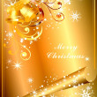 Golden Christmas Backgrounds — Stock Vector