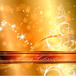 Golden New Year Backgrounds — Stock Vector