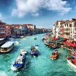 Venice. Gran Canal desde el Puente de Rialto. Grand Canal — Stock Photo