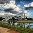 Royalty-Free Stock Photo: Madrid - Parque Juan Carlos I. Puente sobre el lago. (Bridge over the lake)
