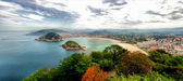 San Sebastian. Vista desde el Monte Igeldo (Panoramic view from Igeldo) — Stock Photo