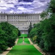 Madrid. Palacio Real desde el Campo del Moro (Royal Palace). — Stock Photo