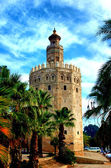 Sevilla. Torre del Oro. (Seville. Tower of Gold) — Стоковое фото