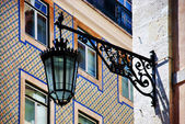 Lisbon. Tiles and lamps in Chiado — Stock Photo