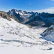Mont Blanc - l&#039;Aiguille du Midi - Stock Photo