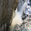 Stock Photo: Small waterfall in winter