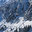 Stock Photo: Winter mountain slope