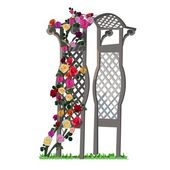 Arbor with rose — Stock Vector