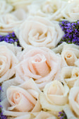 Wedding close up of white bridal bouquet — Stock Photo