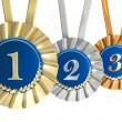Ribbon award with gold laurels — Stock Photo