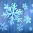 3d snowflake — Stock Photo #7243032