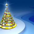 A christmas tree concept. Greeting new year card. - Stock Photo