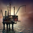 Stock Photo: Drilling offshore Platform