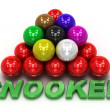 billiard snooker. 3d concept — Stock Photo