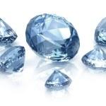 Diamonds set , isolated on white — Stock Photo